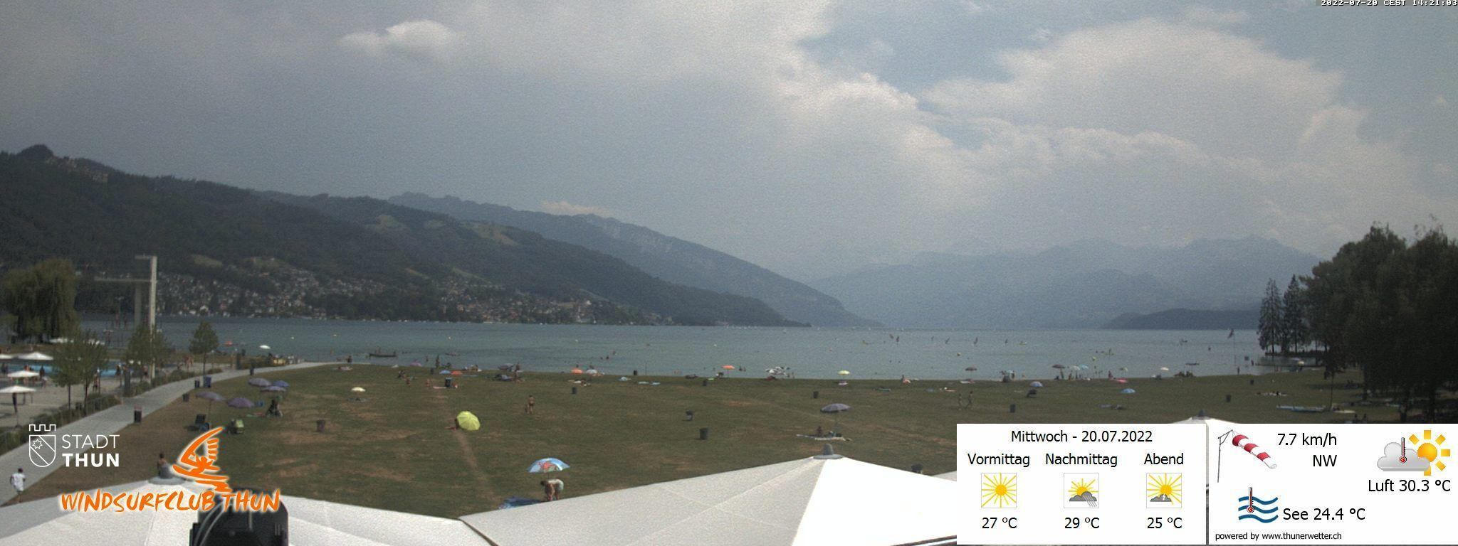 Thun: Webcam des WSCT vom Strandbad